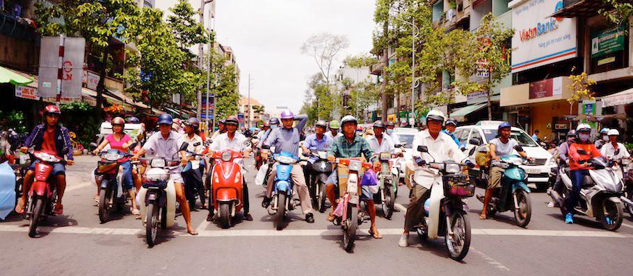 ベトナム町並み